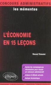 L'Economie En 15 Lecons Toutes Les Connaissances Necessaires Pour Reussir Enjeux Et Debats Actuels - Intérieur - Format classique
