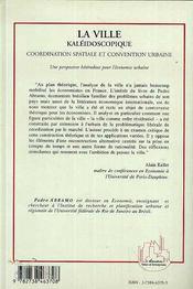 La Ville Kaleidoscopique, Coordination Spatiale Et Convention Urbaine - 4ème de couverture - Format classique