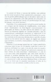 Autour De Sartre, La Conscience Mise A Nu - 4ème de couverture - Format classique