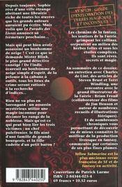Les sentiers de la faërie - 4ème de couverture - Format classique