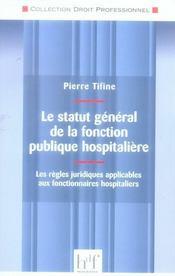 Le statut général de la fonction publique hospitalière - Intérieur - Format classique