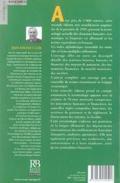 Terminologie bancaire, economique et financiere. allemand-francais - 4ème de couverture - Format classique