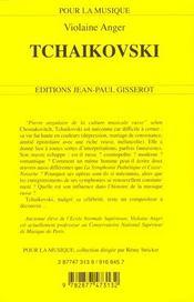 Tchaikovski - 4ème de couverture - Format classique