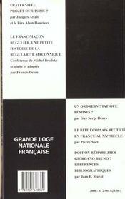 Travaux de la loge n.45 ; franc metier au feminin - 4ème de couverture - Format classique