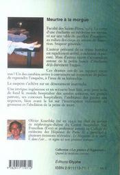 Meurtre A La Morgue - 4ème de couverture - Format classique