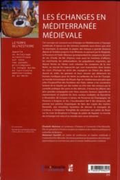 Echanges En Mediterranee Medievale - 4ème de couverture - Format classique