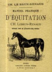 Manuel pratique d'équitation - Couverture - Format classique