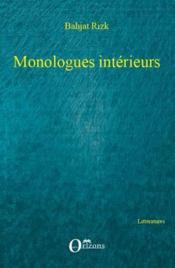 Monologues intérieurs - Couverture - Format classique