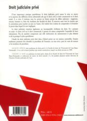 Droit judiciaire privé (5e édition) - 4ème de couverture - Format classique