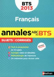 Annales Abc Bts 2013 Francais - Couverture - Format classique