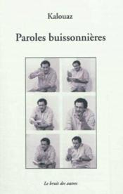 Paroles buissonnieres - Couverture - Format classique