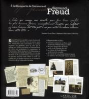 Sigmund Freud, à la découverte de l'inconscient - 4ème de couverture - Format classique
