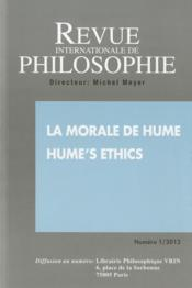 Vente livre :  Revue Internationale De Philosophie N.1 ; 2013 ; La Morale De Hume ; Hume'S Ethics  - Revue Internationale De Philosophie