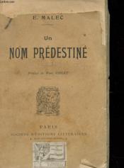 Un Nom Predestine - Couverture - Format classique