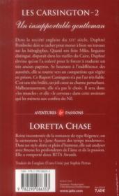 Les Carsington t.2 ; un insupportable gentleman - 4ème de couverture - Format classique