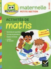 Vente livre :  CHOUETTE ENTRAINEMENT ; maths ; petite section  - Evelyne Barge - Marco Overzee