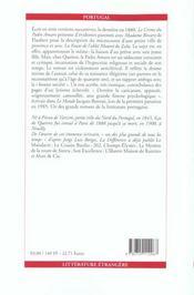 Le Crime Du Padre Amaro - 4ème de couverture - Format classique
