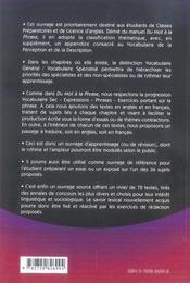 Du mot au texte ; vocabulaire anglais thématique et exercices - 4ème de couverture - Format classique