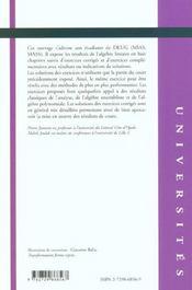 Algebre Lineaire Rappels De Cours Exercices Corriges Deug (Mias Mass) - 4ème de couverture - Format classique