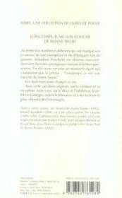 Longtemps Je Me Suis Couche De Bonne Heure Babel 749 - 4ème de couverture - Format classique