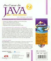 Sunsoftpress Au Coeur De Java 2 - 4ème de couverture - Format classique
