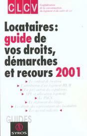 Locataires ; Guide Des Droits 2001 - Intérieur - Format classique