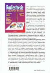 Radiesthesie A La Portee De Tous - 4ème de couverture - Format classique