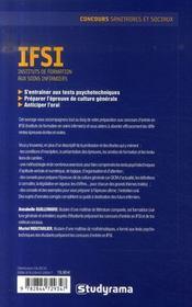 Les concours ifsi - 4ème de couverture - Format classique