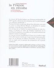 La France en révolte ; luttes sociales et cycles politiques - 4ème de couverture - Format classique