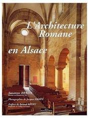 L Architecture Romane En Alsace - Couverture - Format classique