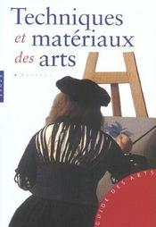 Techniques et matériaux des arts - Intérieur - Format classique