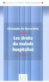 Les droits du malade hospitalisé - Couverture - Format classique