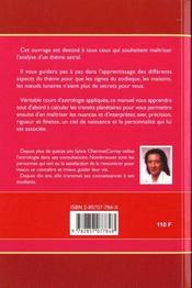 Manuel Pratique D'Astrologie - 4ème de couverture - Format classique
