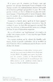 Secret De La Droite - 4ème de couverture - Format classique