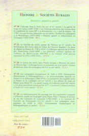 Revue Histoire Et Societes Rurales ; Histoire Et Sociétés Rurales N.25 - 4ème de couverture - Format classique