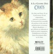 Florilege a la gloire des chats - 4ème de couverture - Format classique