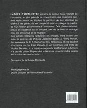 Images D'Orchestre - 4ème de couverture - Format classique