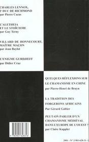 Villard de honnecourt n 46 - charles lennox - l'alethia et le stoicisme... - 4ème de couverture - Format classique