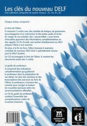 Clés du nouveau DELF B2 ; guide pédagogique + cd - 4ème de couverture - Format classique