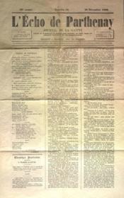 Echo De Parthenay (L') N°52 du 26/12/1869 - Couverture - Format classique