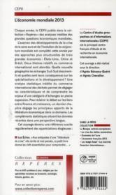 L'économie mondiale (édition 2013) - 4ème de couverture - Format classique