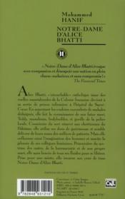 Notre-Dame d'Alice Bhatti - 4ème de couverture - Format classique
