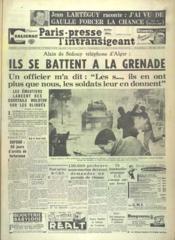 Paris Presse L'Intransigeant N°4978 du 11/12/1960 - Couverture - Format classique