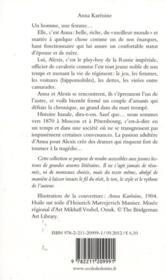 Anna Karénine - 4ème de couverture - Format classique
