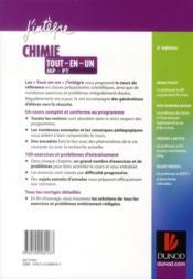 Chimie ; MP, PT ; tout-en-un (2e édition) - 4ème de couverture - Format classique