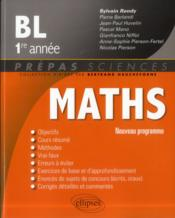 Vente livre :  Maths bl 1re annee programme 2013  - Rondy