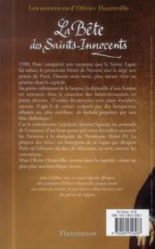 La bête des saints-innocents - 4ème de couverture - Format classique