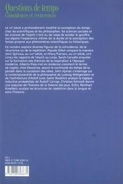 Revue De Synthese N.127 ; Questions De Temps ; Coincïdences Et Récurrences - 4ème de couverture - Format classique