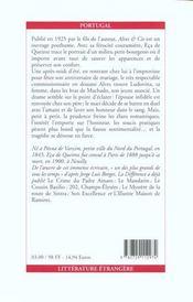 Alves et cie - 4ème de couverture - Format classique