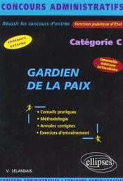 Gardien De La Paix Categorie C Nouvelle Edition Concours Externe Fonction Publique D'Etat - Intérieur - Format classique